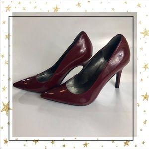 Marc Fisher Size 6  Bordeaux Patent Heels (B5)